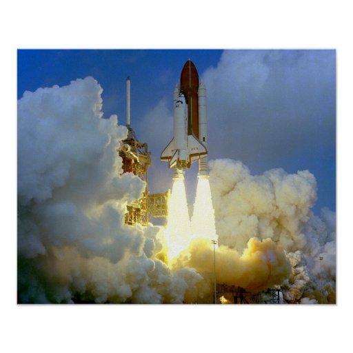 Lanzamiento del transbordador espacial Columbia Póster