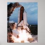 Lanzamiento del transbordador espacial Columbia (S Poster