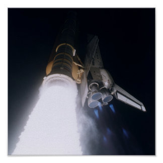 Lanzamiento del transbordador espacial la Atlántid Poster