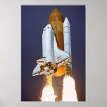 Lanzamiento del transbordador espacial la Atlántid Posters