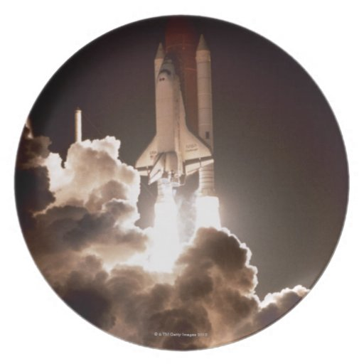 Lanzamiento del transbordador espacial platos para fiestas