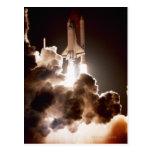Lanzamiento del transbordador espacial postal