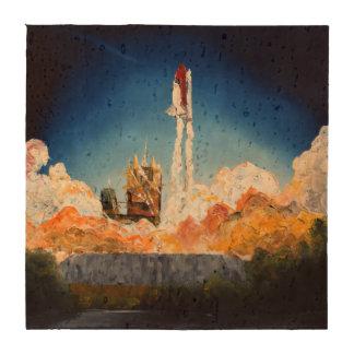 Lanzamiento del transbordador espacial posavasos