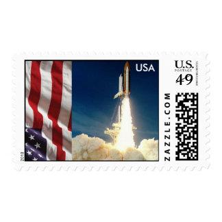 Lanzamiento del transbordador espacial franqueo