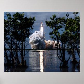 Lanzamiento del transbordador espacial STS-80 Poster