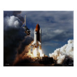 Lanzamiento del transbordador espacial STS-80 Posters