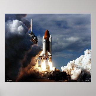Lanzamiento del transbordador espacial STS-80 Póster
