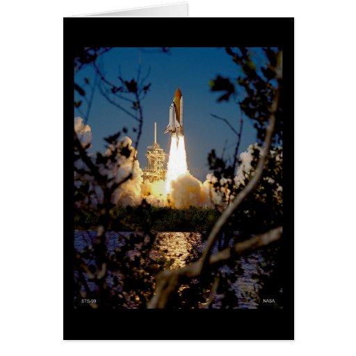 Lanzamiento del transbordador espacial STS-99 Tarjeta De Felicitación