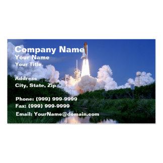 Lanzamiento del transbordador espacial tarjetas de visita