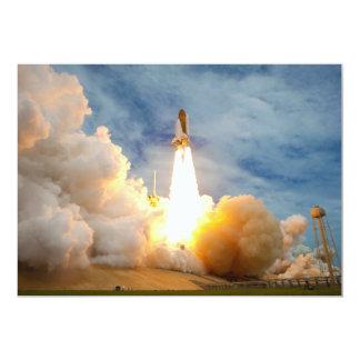 Lanzamiento final de la misión del transbordador invitación personalizada