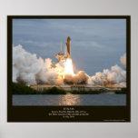 Lanzamiento final STS-135 la Atlántida del transbo Posters