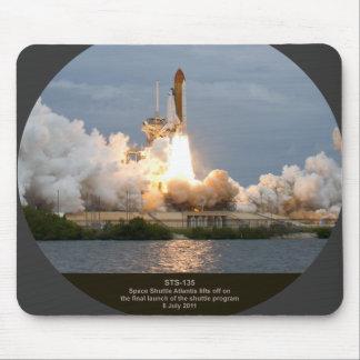 Lanzamiento final STS-135 la Atlántida del transbo Tapete De Ratón
