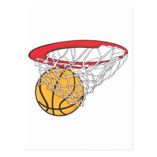 Lanzamiento fresco del baloncesto en camisa de la tarjeta postal
