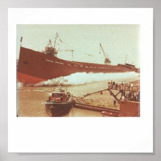Lanzamiento m/v Edmund Fitzgerald de junio de 1957 Póster