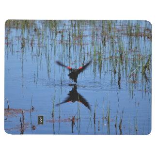Lanzamiento negro del pájaro cuadernos