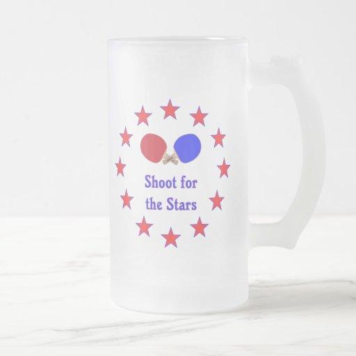 Lanzamiento para el ping-pong de las estrellas taza