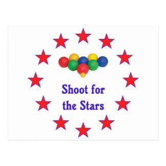 Lanzamiento para la bola de Bocce de las estrellas Tarjetas Postales