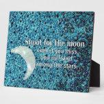 Lanzamiento para la luna placa para mostrar