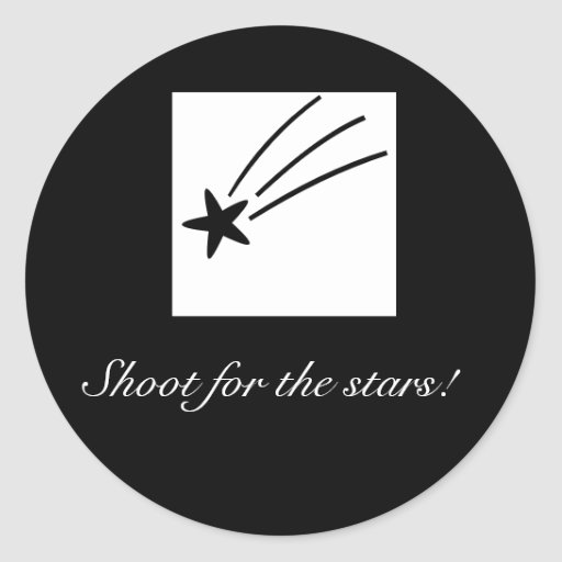 ¡Lanzamiento para las estrellas! Pegatinas Pegatina Redonda