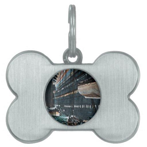 Lanzamiento titánico del RMS del vintage de los bo Placa De Mascota