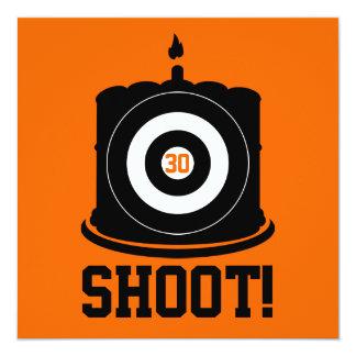 """¡Lanzamiento! Un cazador golpea 30 - trigésima Invitación 5.25"""" X 5.25"""""""