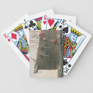 Lanzando la boya, el 8 de agosto de 1865, marcado barajas de cartas