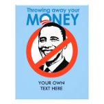 Lanzar lejos su dinero tarjetón