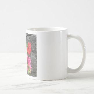 Lanzarote Lava Rock with Flowers Coffee Mug