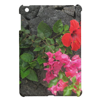 Lanzarote Lava Rock with Flowers Cover For The iPad Mini