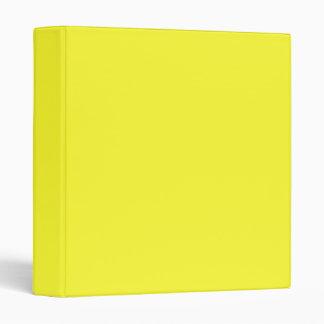Lanzarote Lemon Acid Neon Yellow Tropical Romance Vinyl Binder