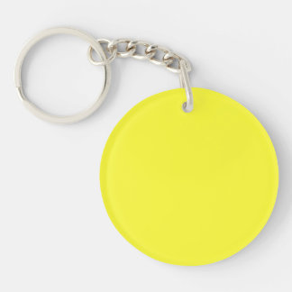 Lanzarote Lemon Acid Neon Yellow Tropical Romance Keychain