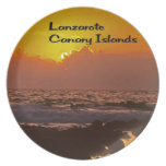 Lanzarote Sunset Dinner Plate
