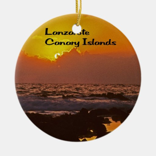 Lanzarote Sunset Double-Sided Ceramic Round Christmas Ornament