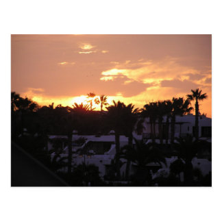 Lanzarote Sunset Postcard