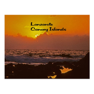 Lanzarote Sunset Post Card