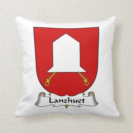 Lanzhuet Family Crest Throw Pillows