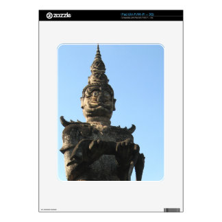Lao Giant Demon ... Buddha Park, Vientiane, Laos Decals For iPad