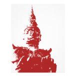 Lao Giant Demon ... Buddha Park, Vientiane, Laos Letterhead Template