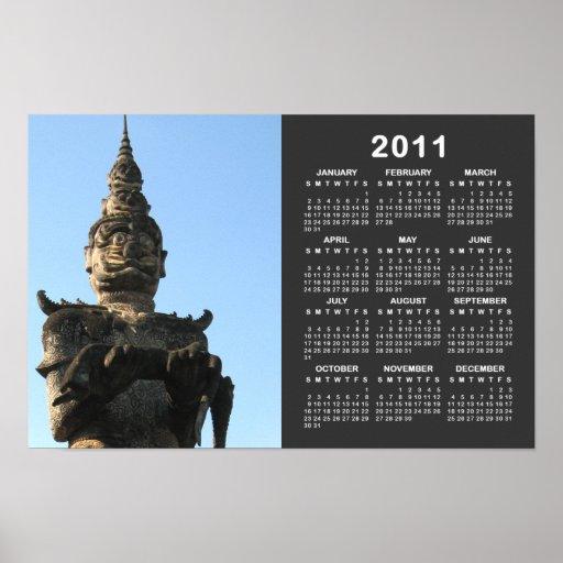 Lao Giant Demon ... Buddha Park, Vientiane, Laos Poster