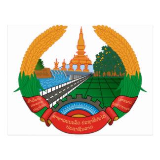 LAO NATIONAL EMBLEM - LAO BADGE POSTCARD