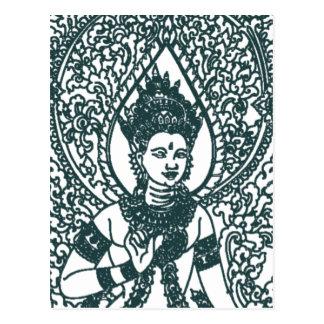 LAO - THAI - CAMBODIA BUDDHIST ANGEL GOD POSTCARDS