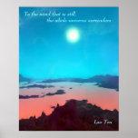 Lao Tzu Custom Quote Aquarius Prime Scifi Poster