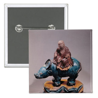 Lao-Tzu en su búfalo, dinastía de Qing Pin Cuadrado