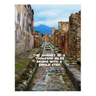 Lao Tzu JOURNEY travel quote Postcard