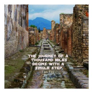Lao Tzu JOURNEY travel quote Poster