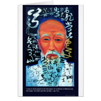 Lao Tzu Love/Passion/Senses Quote Gifts & Tees Greeting Card