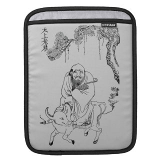 Lao Tzu Ming dynasty chinese painting Sleeves For iPads