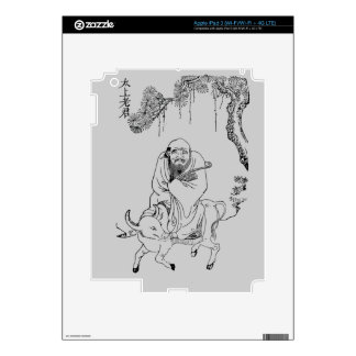 Lao Tzu Ming dynasty chinese painting Skins For iPad 3