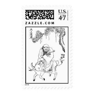 Lao Tzu Ming dynasty chinese painting Stamp