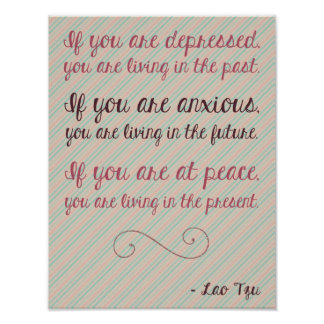 Lao Tzu Motivational Quote Poster 8 5 x 11